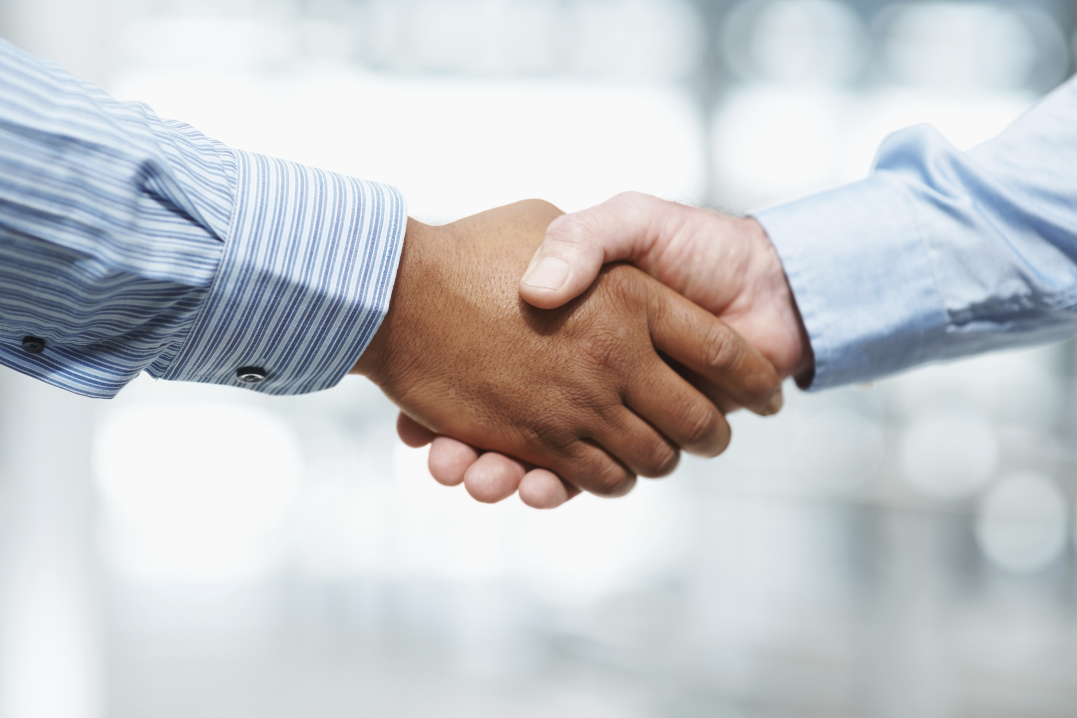 Handshake between two business executives
